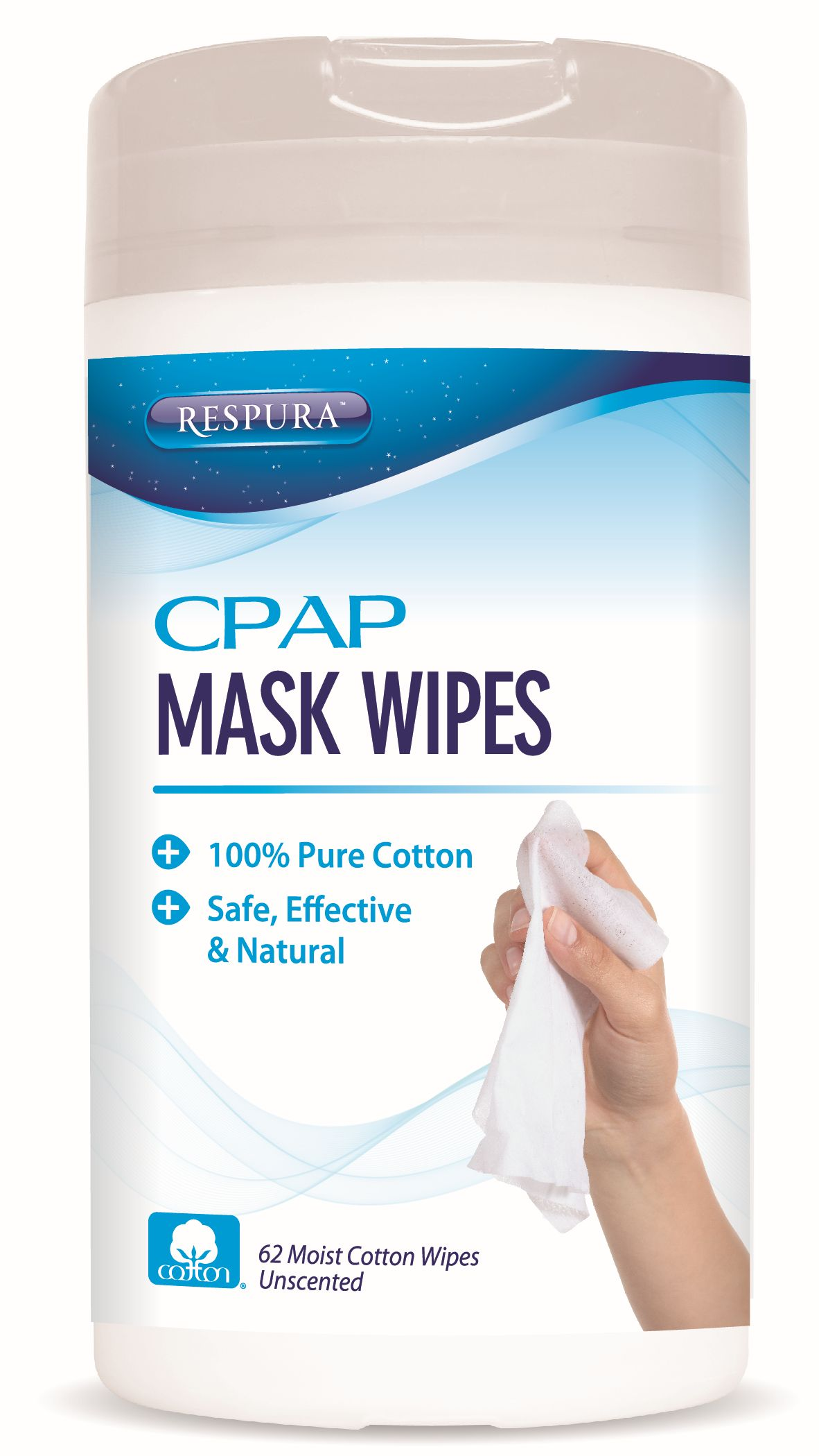 AG-CLN-WI Retail Pack: CPAP Mask Cleaning Wipes (12 Pack) product photo