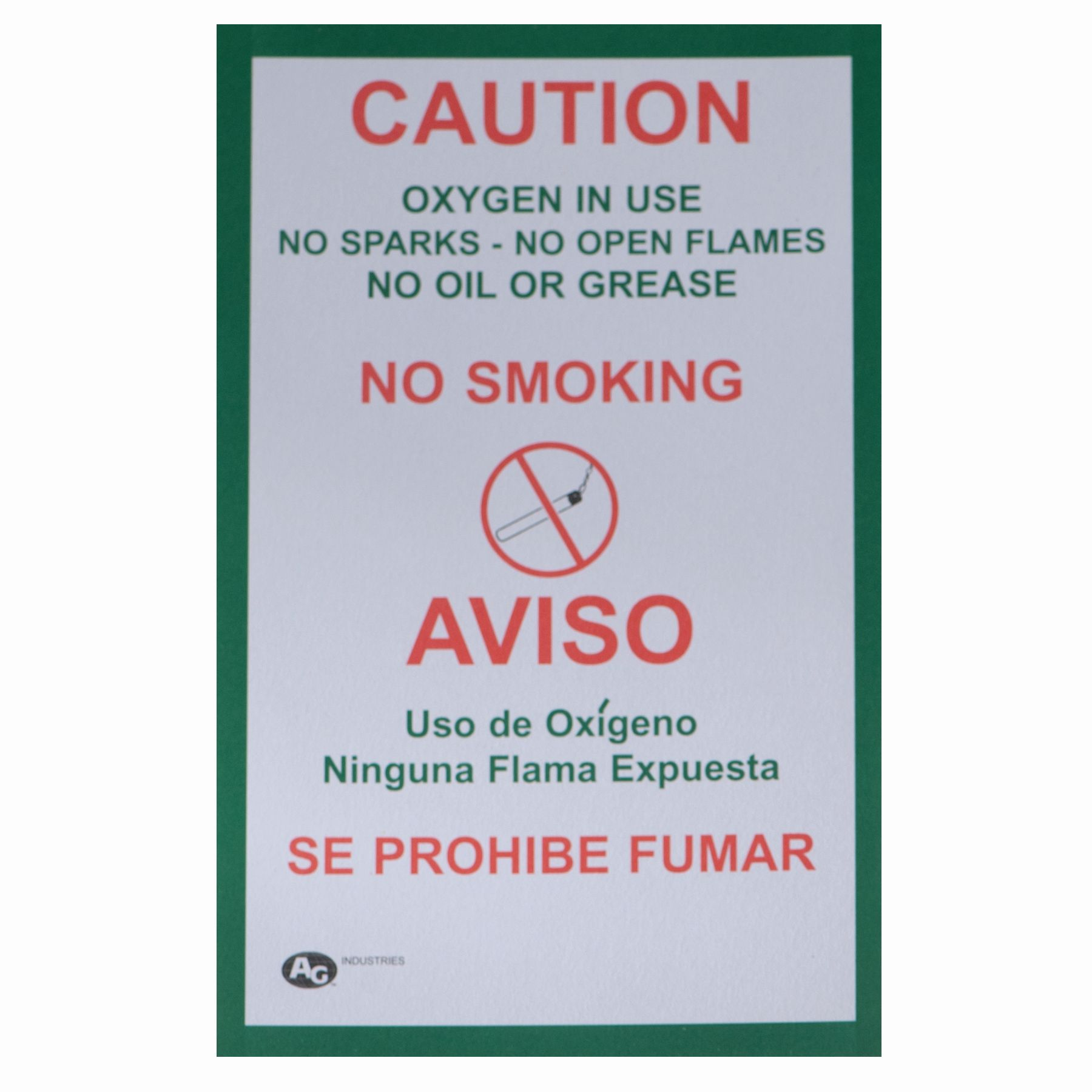 AG66099 No Smoking Placard (100 Pack) product photo